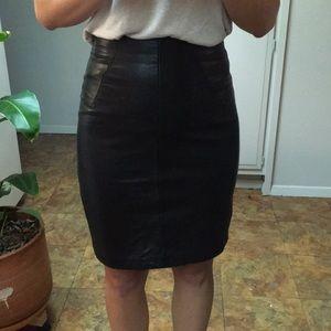 Vintage High waisted leather skirt